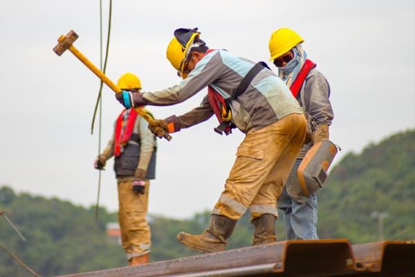 worker laboring